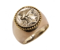Gold and Silver Vintage Style Ring