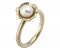 Gold Vintage Pearl Ring