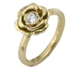 Gold Vintage Style Ring with Zircon