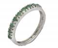 White Gold Vintage Ring with Emeralds