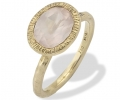 Gold Vintage Ring with Quartz