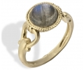 Gold Vintage Ring with Labrodite