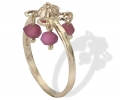 Gold Vintage Style Ring with Rubies