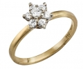 Yellow Gold Vintage Diamond Ring side view