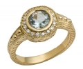Gold Vintage Style Diamond Ring