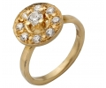 Gold Vintage Ring with Zircons