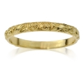 Delicate and Feminine Handcrafted 14k Gold Wedding Band