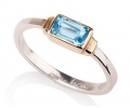 14k Gold Ring With Topaz Side View