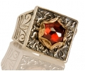 Gold and Silver Vintage Zircon Ring