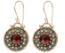 Antique Styled Designer Silver Earrings with Gemstones Front View