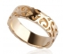 Gold Wedding Ring Side View