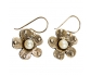Designer Vintage Earrings with Pearl Side View