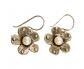 Designer Vintage Earrings with Pearl Side View