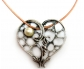 Sterling Silver Leather Necklace with a Heart Shaped Pearl Pendant
