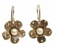 Designer Vintage Earrings with Pearl Front View